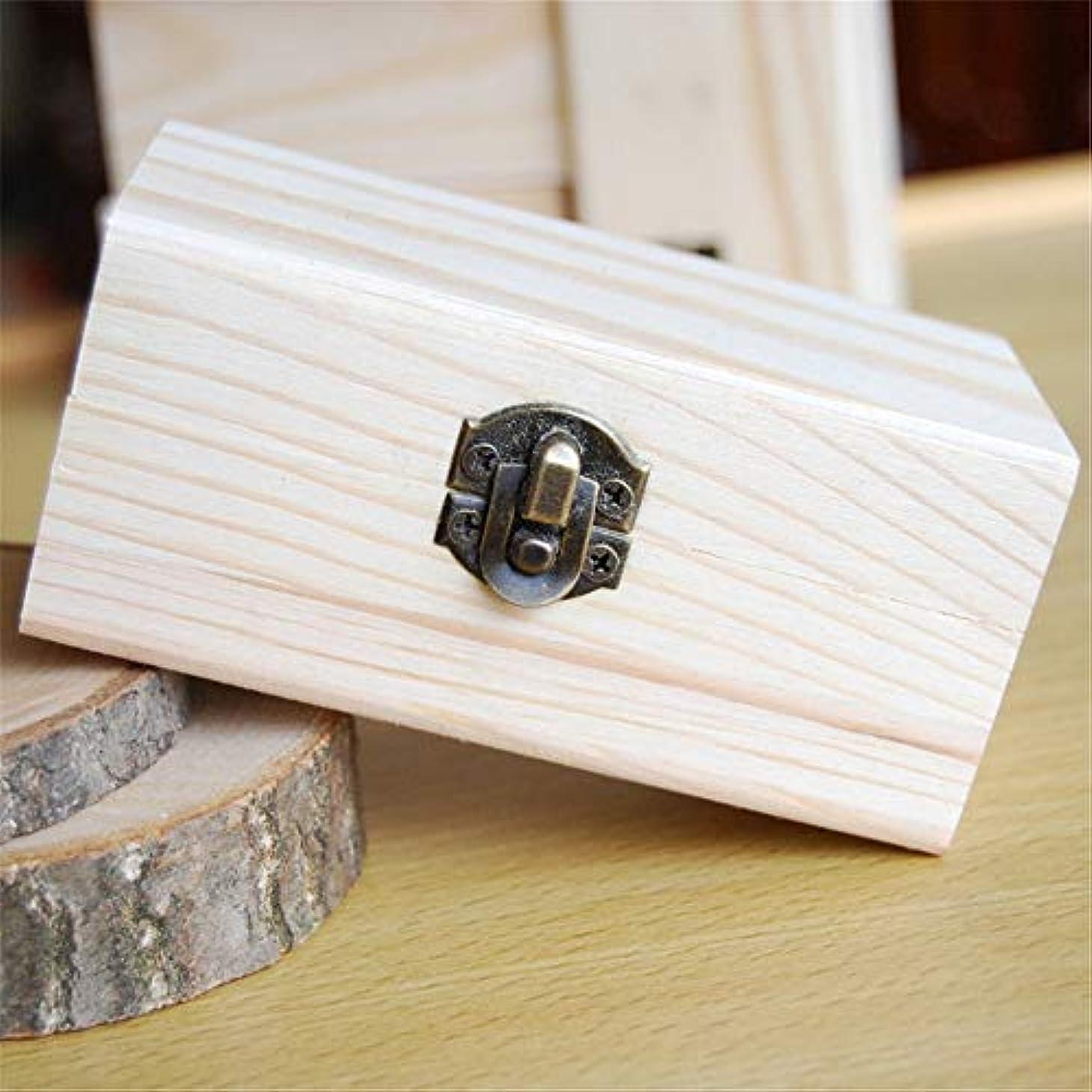 愚かであること高度なエッセンシャルオイルの保管 安全に油を維持するための品質の木製エッセンシャルオイルストレージボックスベスト (色 : Natural, サイズ : 10X6X5CM)