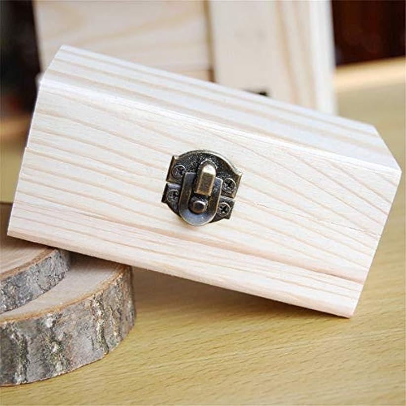 ポイントピンク和解するエッセンシャルオイルの保管 安全に油を維持するための品質の木製エッセンシャルオイルストレージボックスベスト (色 : Natural, サイズ : 10X6X5CM)