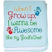 CafePress – Awesome Godfather – スーパーソフトベビー毛布、新生児おくるみ ブルー 089601069625CD2