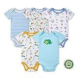 (マザーネスト) Mother Nest カバーオール 新生児から ロンパース 赤ちゃん 綿100 半袖 Baby ボディースーツ 5枚セット ベビー服 Bodysuit BBT050-12M