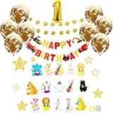 HomeFirst 誕生日 飾り付け バースデー セット おしゃれ 風船 デコレーション 飾り 動物ガーランド 車ガーランド HAPPY BIRTHDAY 装飾 スターガーランド