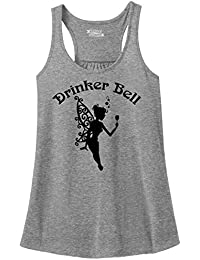 ComicalシャツLadies Drinker Bell Cute Funny Party Alcohol Loverレーサーバック