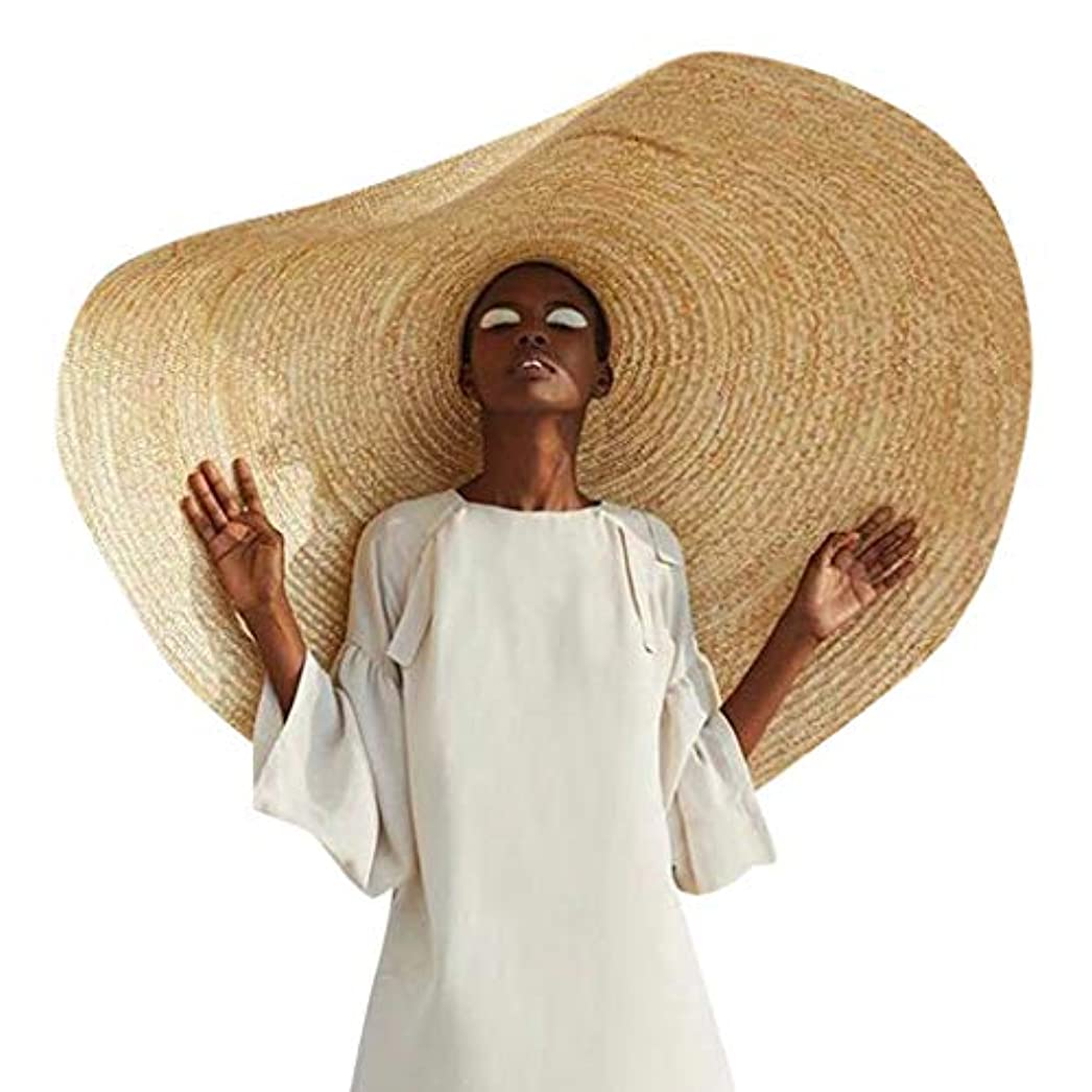 期待無視する傘hgerGWW 80cm 1M ファッション大規模な日曜日の帽子浜の反紫外線日曜日の保護折り畳み式のわらの帽子カバー