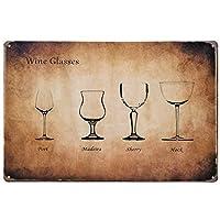 [ファン] Fun! ブリキ看板 ワイン glu ポスター BAR インテリア雑貨 赤ワイン 白ワイン