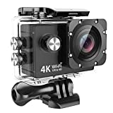 MUSON(ムソン) アクションカメラ 【メーカー直販/1年保証】4K高画質 30M防水 Wi-Fi搭載 ドライブモード 2インチ液晶画面 170度広角レンズ ハルメット式 HDMI出力可能 [防水ケース&豊富なアクセサリー付き] スポーツカメラ ウェアラブルカメラ 防犯カメラ ドライブレコーダーとしても使用可能 MC1A ブラック