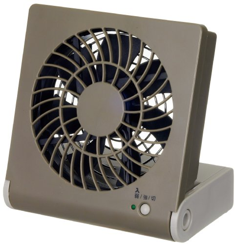 RoomClip商品情報 - ドウシシャ 3電源(AC,USB,乾電池) 10cm コンパクトデスク扇風機 風量2段切替機能付 ブラウン NPM-1081U(BR)