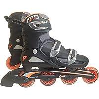 東方興産 ワンタッチサイズ調整式 インラインスケート CA9000F オレンジ 24cm~27cm