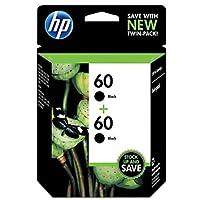 HP 60 Black Original Ink Cartridges, 2 pack (CZ071FN) [並行輸入品]