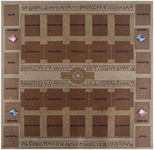 おもちゃの神様 カード ラバープレイマット エジプト壁画風 対戦用 ペンデュラムゾーンあり! 60×60cmサイズ 厚さ 2mm の特大サイズ! これ1枚で二つのデュエルフィールドを用意! プレイマットについにペンデュラムゾーンを追加! アニメを再現し、決めろペンデュラム召喚! 遊戯王 ARC-V