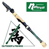 ナチュラム 釣具屋がキャンパーのために真剣に考えたコンパクトフィッシングロッド 510SP2 ディープグリーン KT-510TE2