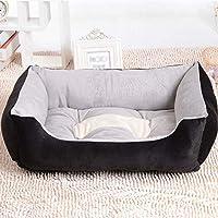 XihouxianL10 ペットのベッド四季利用可能な猫のマット、犬小屋PP綿茶色の黒猫の巣ペット用品、屋内と屋外を使用することができます xihouxianL10 (Color : Black, Size : M)
