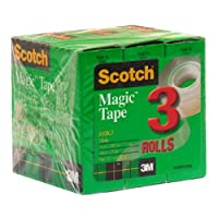 Scotchマジックテープ、3/ 4x 1000インチ、6パック