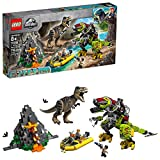 LEGO Jurassic World T. rex vs Dino Mech Battle 75938 (716 Pieces)