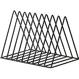 Triangle File Folder Racks and Magazine Holder,10 Lattice Metal Newspaper Holder Magazine File Storage for Office Home Decora