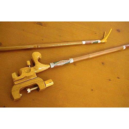 竹製竿掛け 1本半物 + 銘木大砲万力セット