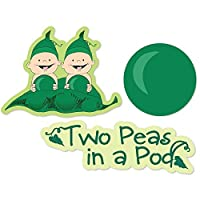Twins Two Peas in a Pod - DIY Shaped Baby Shower or Birthday Party Cut-Outs - 24 Count [並行輸入品]