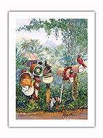 サンタに - ハワイのクリスマスレター - オリジナルハワイ水彩画から によって作成された ペギー チュン -プレミアム290gsmジークレーアートプリント - 46cm x 61cm