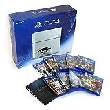 【中古セット】PlayStation 4 グレイシャー・ホワイト (CUH-1200AB02) + ソフト10点