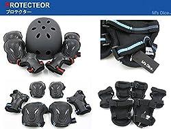 (エムズダイス)M's Dice ヘルメット & プロテクター 3点 セット ( 手首   ひじ   ひざ パッド ) 3カラー S~L サイズ スケボー ローラースケート