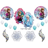 Frozen Holographic Icedブルー15 pc。Disney Movie BIRTHDAYパーティーBalloons Decorations Supplies by Anagram