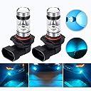HOCOLO 9005 HB3 H10 100WサムスンチップLEDフォグランプ用電球DRLフォグランプ用ライト8000KアイスブルーハイパワーLED電球自動車用照明器具(2個セット) (HOCOLO_9005 HB3 H10-ブルー100W)