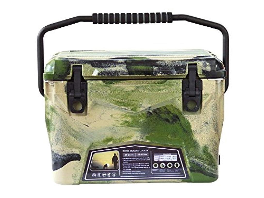 フォアマン大いにストラップ【 正規輸入品 】 アイスランドクーラー ボックス 20 QT 18.9L / グリーンカモ / 付属品3点つき