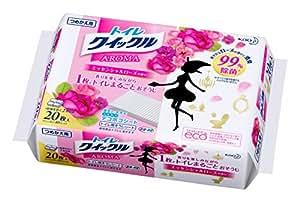 トイレクイックル トイレ用洗剤 アロマ エッセンシャルローズの香り 詰替用 20枚