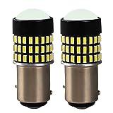 12V-24V車用 S25 1157 BAY15D P21/5W LEDバルブ ダブル 汎用 超高輝度 78連3014SMD ウインカー ランプ コーナーランプ6000-6500K (2個セットホワイト・白 )