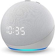 【新型】Echo Dot (エコードット) 第4世代 - 時計付きスマートスピーカー with Alexa、グレーシャーホワイト