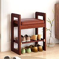 DD シューズホルダー ソリッドウッドシューズベンチ、靴キャビネット/ソファスツール - 多機能低スツール - 収納スツールに座ることができます 木製ラック (色 : 48X29X60cm)
