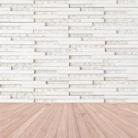 leowefowa 10x 10ft風化ホワイト木製壁厚板ビンテージ木製床ビニール写真バックドロップ背景Sweetベビー子供恋人フォトスタジオ小道具