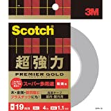 3Mスコッチ超強力両面テーププレミアゴールドスーパー多途粗面SPR-19