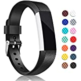 for Fitbit Alta HR and Alta Bands, Hotodeal Soft Accessory Replacement Strap Wristbands with Metal Buckle Clasp for Fitbit Alta/Alta HR Smart Fitness Tracker,3 Pack
