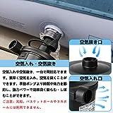 電動エアーポンプ USB充電式 空気入れ 空気抜き 両対応 3種類のノズル付き 電池式エアーポンプ PSE認証 車載用/家庭用/エアーマット用/浮き輪に適用/圧縮袋 画像