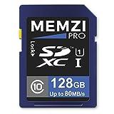 Memzi Pro 128GBクラス1080MB / s SDXCメモリカードfor Nikon Coolpix PまたはSシリーズデジタルカメラ
