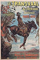 Le Transvaal and L 'afrique Sauvageヴィンテージポスター(アーティスト: Chapellier )フランスC。1900 16 x 24 Giclee Print LANT-58337-16x24