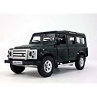 13cm Land Rover Defender Station Waggon Scale Diecast Metal Model - Green