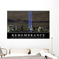 "Remembranceインスピレーション引用と壁壁画by Wallmonkeys Peel and Stickグラフィックwm206280 60""W x 39""H - Jumbo STK-15006-60"