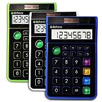 Teledex Inc DD-612 Teledex Inc DD-612 Hybrid Desk 8 Digit Calculator Assorted Colours