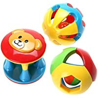 3pcs Baby RattlesおもちゃFun Little Loud Jingle BallリングJingle Develop Baby Intelligenceベビーおもちゃギフト