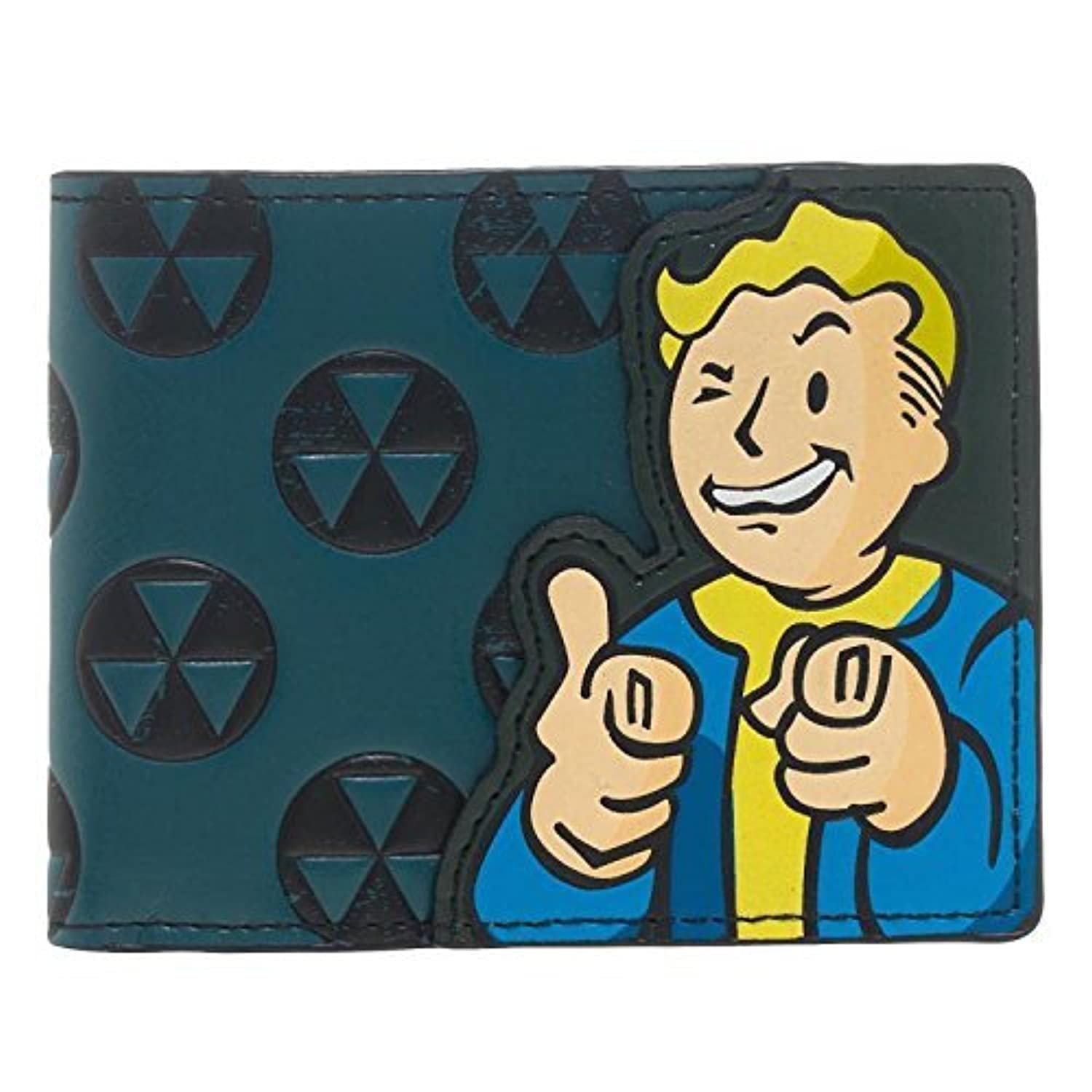 Bethesda Fallout 4 Vault Boy Appliqu? With Embossing Bi Fold Wallet Costume Accessory [並行輸入品]