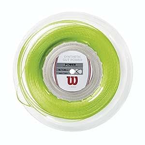 ウイルソン Wilson テニスガット・ストリング SYNTHETIC GUT POWER 16 LIME GREEN REEL WRZ905700