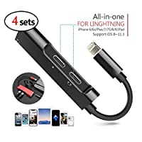 XuBa ポータブルデュアルLightningアダプター スプリッター Lightning - 3.5 mm ヘッドホンジャックアダプター iPhone 8 X (4個) 2x_KY-ELEC-042518-0ECAB14366_4