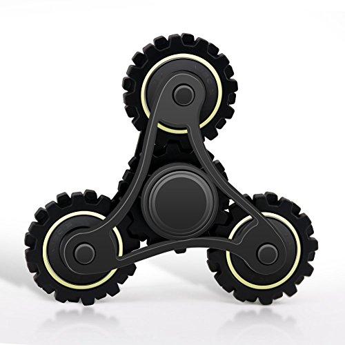 Waitiee ハンドスピナー 指スピナー 2~4分平均スピン ストレス解消 おもちゃ(Black)
