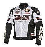 シンプソン(SIMPSON) バイク用ジャケット Mesh Jacket(メッシュジャケット) ホワイト LW SJ-8115