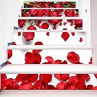 階段自己粘着壁紙バラホームインテリア3DリムーバブルDIYステレオステッカー現代のHD防水階段の壁紙