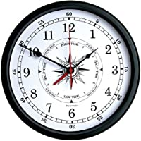 Atlantic Time & Tide Indicator Trintec Wall Clock 14 (White Dial) TTW-02-14 [並行輸入品]