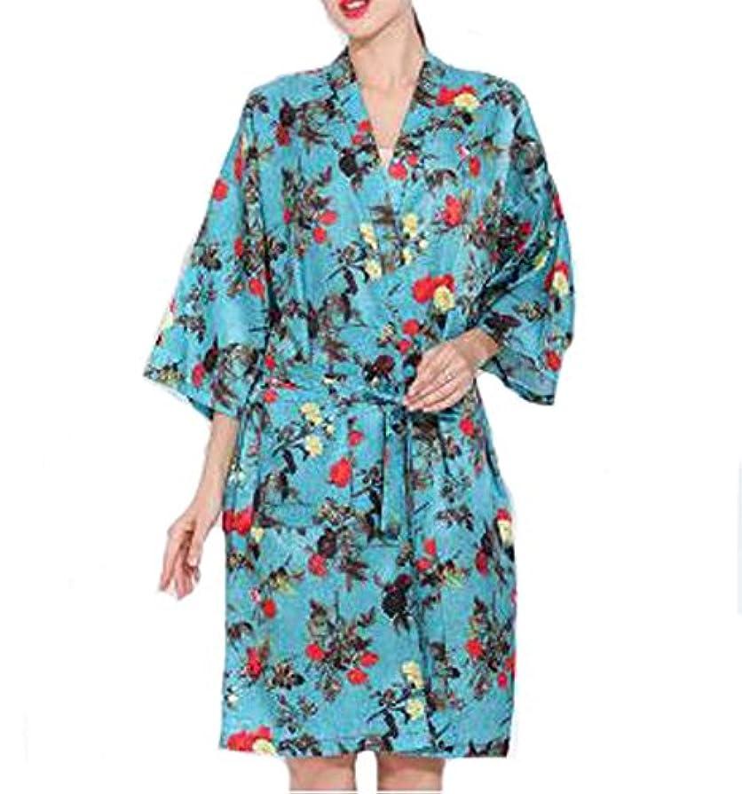 クモ稚魚文献ヨーロッパスタイルのサロンクライアントガウンローブ、美容院のドレス、青
