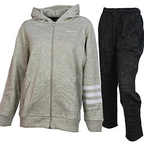[해외]adidas 아디다스 여성 니트 양털 안감 기모 트레이닝 자켓 바지 상하 DUQ12 CD2967 DUQ20 CD2976 클리어 브라운 × 다크 그레이/adidas adidas ladies knitted fleece brushed brushed sweat jacket pants up and down DUQ 12 CD2967 DUQ 20 CD 2976...