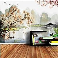 Xbwy リビングルームの装飾のための3Dインク風景Narure壁紙壁画-150X120Cm